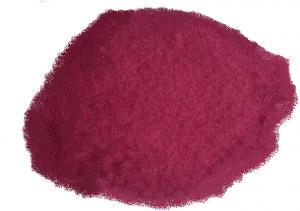 Vitamin B12 råvaren i form af et mørkerødt, krystallinsk pulver.